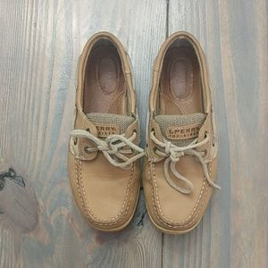 Sperry Tan Boat Shoes- Size 6